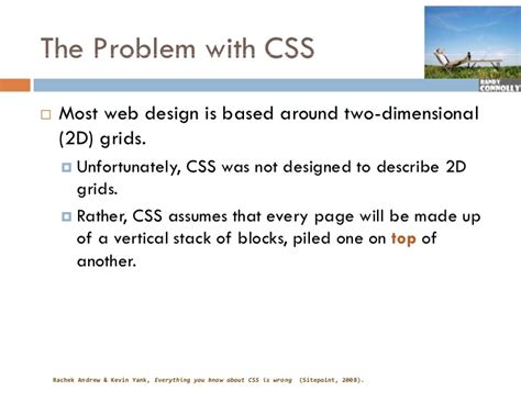 css layout problems web i 07 css frameworks