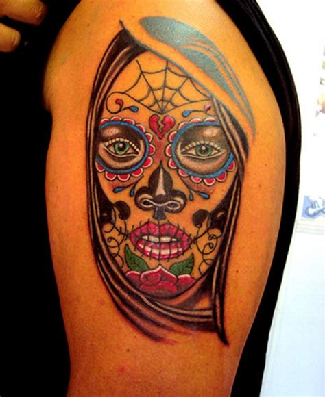 tattoo santa muerte santa muerte on shoulder for tattooimages biz