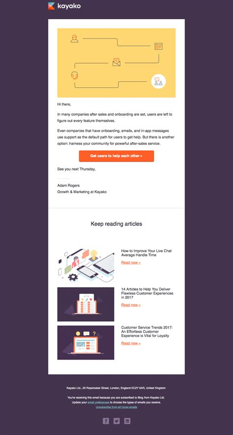 update email newsletter design increase