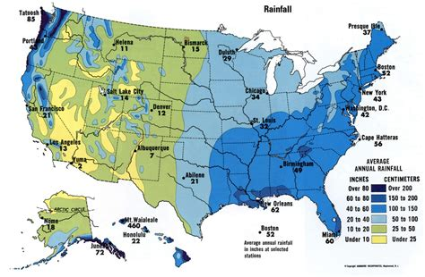 map us rainfall rainfall usa map