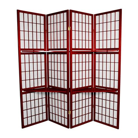 Paper Screens - shop furniture 4 panel rosewood paper folding