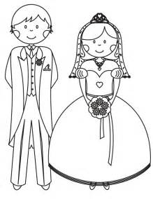 wedding coloring pages bride and groom