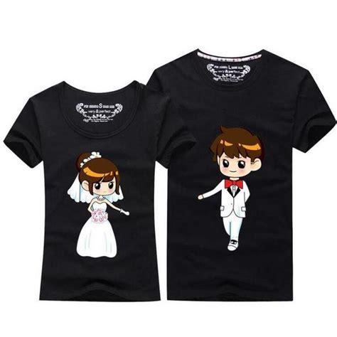 Summer Tops 2018 Kawaii Couple T Shirt For Wedding Men And