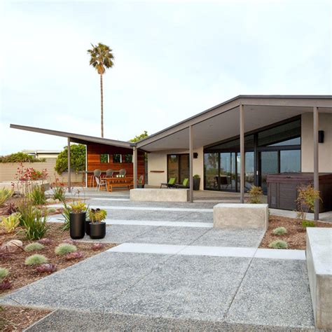 H Shaped House Floor Plans by Mid Century Modern Patio