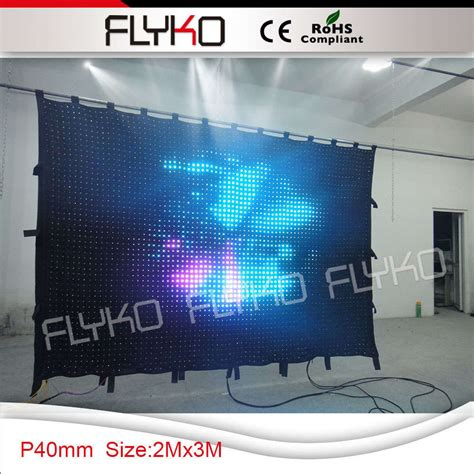 led video curtain 2015 new product foldable dmx pc control stage backdrop