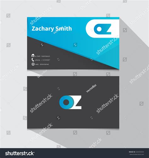 z card template minimal corporate business card template logo design
