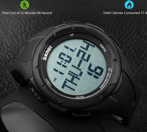 Skmei Pedometer 1108 Original Water Resist 50m Army Green Jam Tangan skmei 1122 sports pedometer 3d waterproof date alarm stopwatch smart