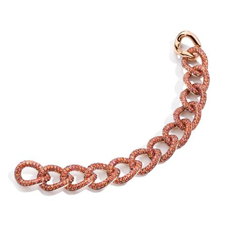 pomellato pom pom pom pom color orange sapphire bracelet pomellato
