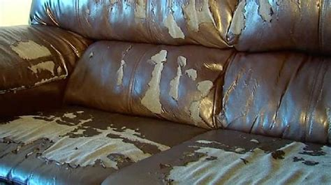 brown leather sofa cracking image gallery pleather