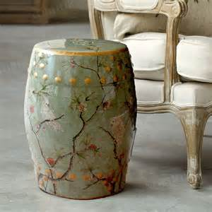Gardening Stool Modern Parrot Ceramic Stool For Garden And