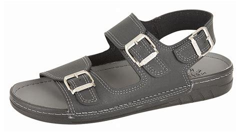jesus sandals mens mens gezer leather look wide fit jesus sandals mules black
