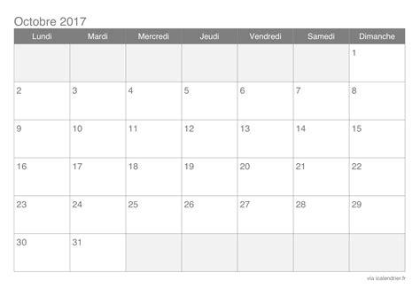 Calendrier Octobre 2017 à Imprimer Calendrier Octobre 2017 224 Imprimer Icalendrier