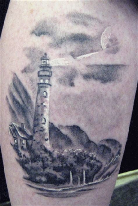 black and grey lighthouse tattoo black and grey lighthouse tattoo by ryan speed tattoonow