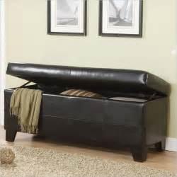 modus upholstered blanket storage bench black