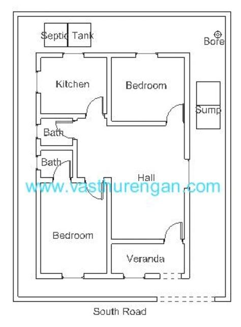 South Facing Vastu House Plans Vastu Plan For South Facing Plot 1 Vasthurengan
