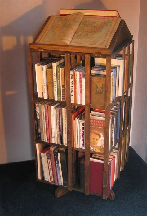 revolving bookcase johnsonarts