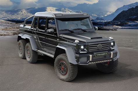 Mercedes G63 Amg 6x6 by Mansory Mercedes G63 Amg 6x6 Front Three Quarters Photo 2