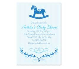 personalised rocking baby shower invitation baby boy