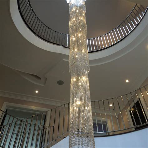 Stairwell Chandeliers Fall 6mtr 560 Dia Stairwell Light 2mtr On Display In Our Showroom Lightstyle Interiors