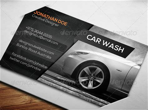 7 car wash business card templates free psd design ideas