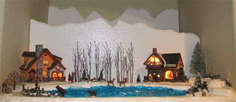 christmas village snow blankets with lights snow blanket for christmas villages home ideas