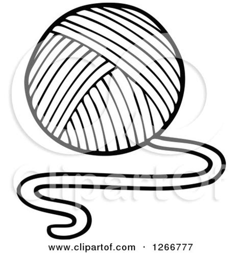 coloring pages for yarn clipart of a black and white of yarn royalty free
