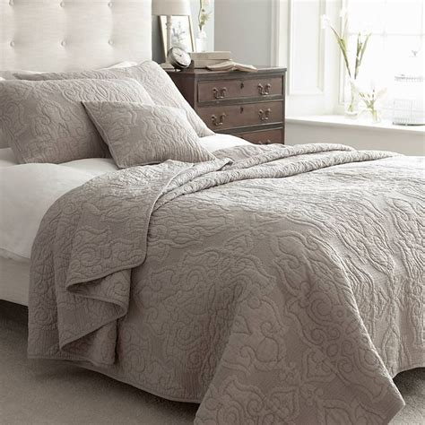 Quilted Cotton Bedspreads by Kingston Taupe Quilted Bedspread Taupe Cotton Bedspread