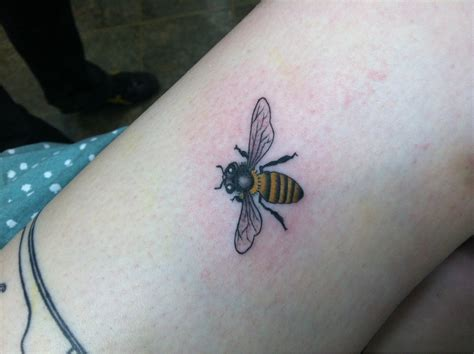 small bee tattoo of small bee tattooshunt