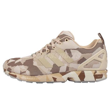 mens camo sneakers adidas originals zx flux brown hemp camo mens running