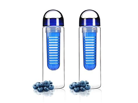 New Tritan 2 Blue Botol Infused Water Bpa Free tritan infusion water bottle set of 2 blue stacksocial