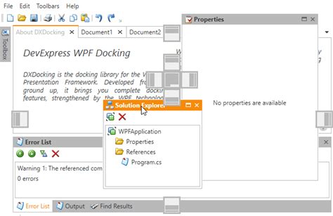 dock layout manager wpf dock windows layout management wpf controls