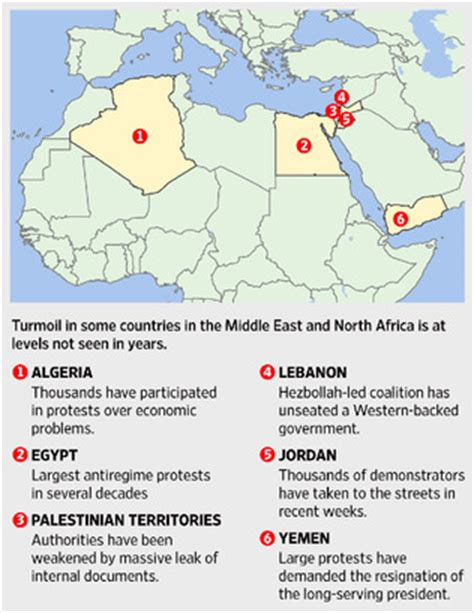 middle east unrest map mideast unrest map