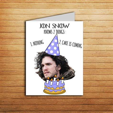 of thrones birthday card template jon snow birthday card of thrones birthday card