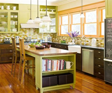 Kitchen Island Color Ideas Green Kitchen Design Ideas
