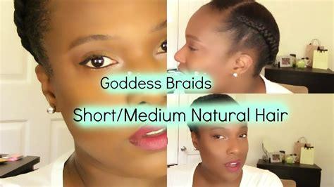 mid length tapered 4c hair easy goddess crown braid hair tutorial short medium