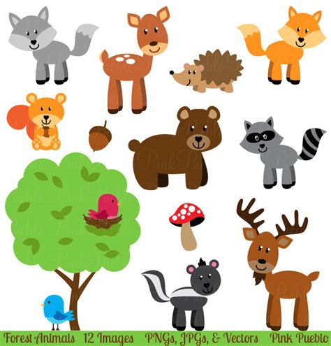 animal clipart zoo clipart forest animal pencil and in color zoo