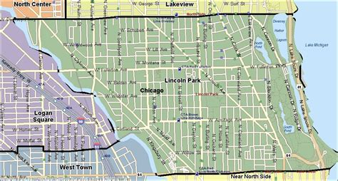 lincoln park chicago map chicago map lincoln park