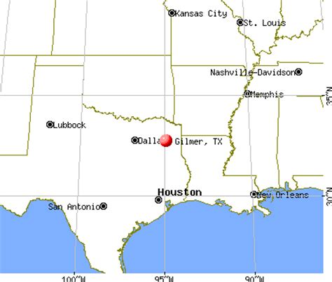 map of gilmer texas gilmer texas tx 75644 profile population maps real estate averages homes statistics