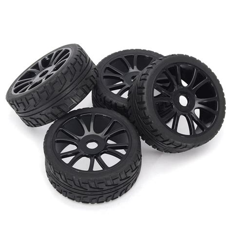 4pcs Black 1 9 Wheel Rims For Hsp Hpi Racing 1 10 Rc Model 4wd Car 60 4pcs 17mm hub wheel tires hsp 1 8 road rc car buggy tyre black price 15 99