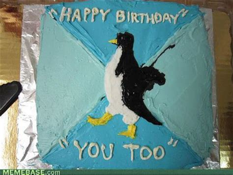 Penguin Birthday Meme - 20 tasty meme cakes smosh