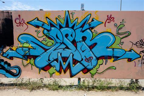 graffiti wildstyle alphabet letters blue color