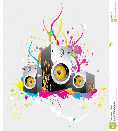 funky designs funky speaker background stock photo image 11129170