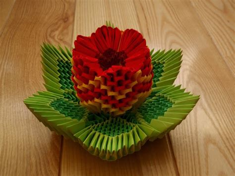 3d Origami Flower - 3d origami flower easy origami for crafts