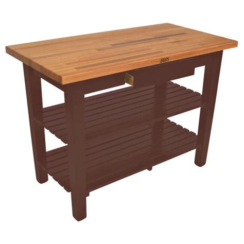 60 Kitchen Island Boos Oak Table Boos Block 60 W Kitchen Island With 2 Shelves Free Shipping