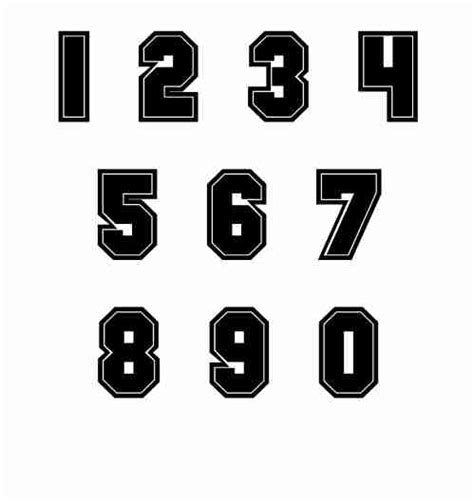 printable football jersey numbers 7 jersey number font images football jersey number font
