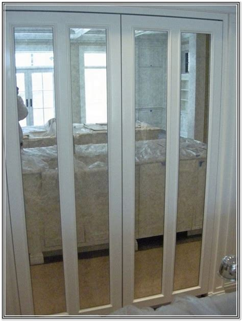 Custom Size Bifold Closet Doors Custom Size Mirror Bifold Closet Doors Home Design Ideas