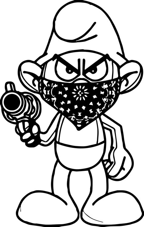 Galerry hefty smurf coloring page