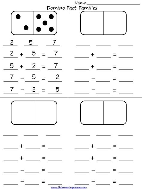 Fact Families Worksheets by Fact Families Grade New Calendar Template Site
