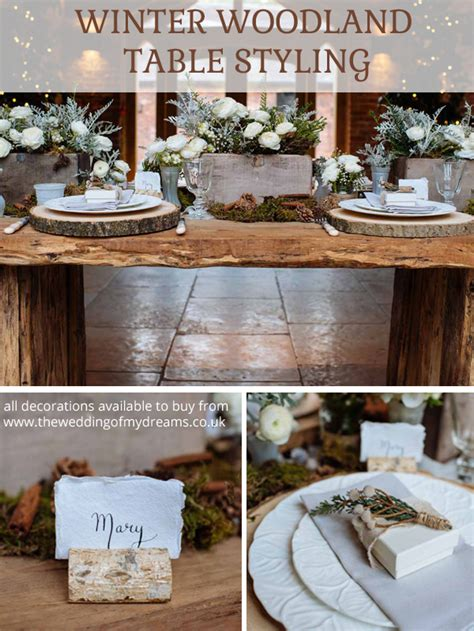winter wedding table decorations rustic winter woodland wedding decorations