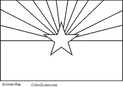 state of arizona flag and map coloring pages